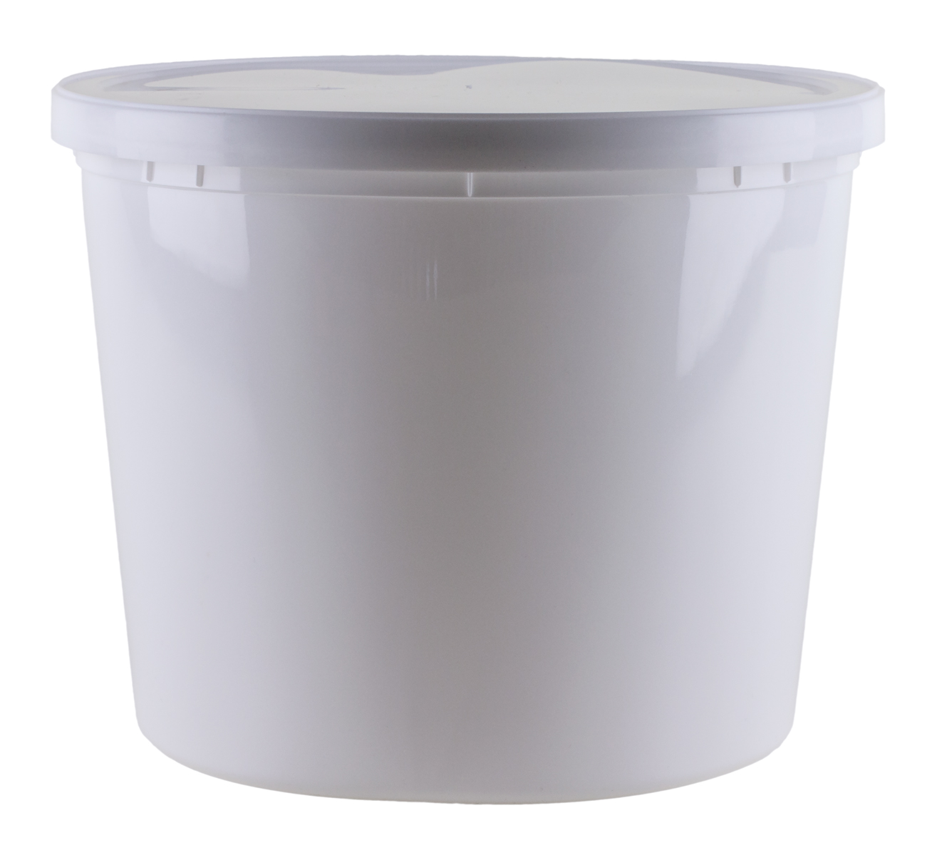 Plastic pre-weighted collection container for collecting stool